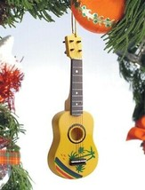 "5"" TROPICAL DESIGN UKULELE UKE MUSICAL INSTRUMENT CHRISTMAS ORNAMENT GIF... - $9.88"