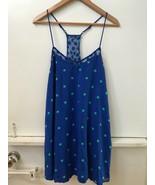 Hollister Abercrombie Warner Springs Blue White Polka Dot Dress M Medium - $18.95