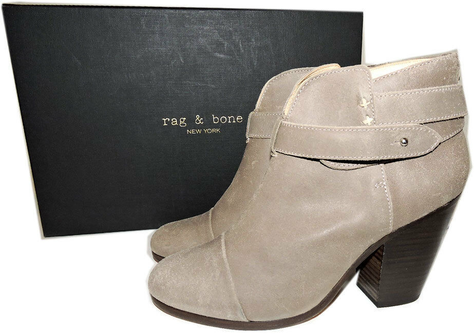 Rag & Bone HARROW Stone Buckle Boots Ankle Booties Taupe Shoes 38.5 - 8 image 4
