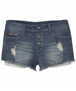 Lee Cooper Distressed Denim Shorts - Indigo Stressed - 27 - $29.02