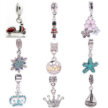 Charms Love 1Pc Silver European Red Motorcycle Fits Pandora Bracelets Ba... - $10.99+