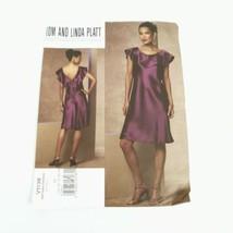 Vogue 1138 Tom and Linda Platt Sleeveless Dress Size14 to 22 Pattern Uncut - $15.83