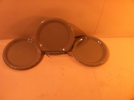 Crown Corning PREGO--SET Of 3 Dessert PLATES--GRAY---SHIPS FREE--NICE - $22.91