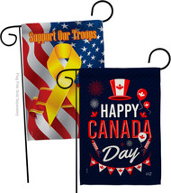 Canada Day - Impressions Decorative Support Our Troops Garden Flags Pack... - $30.97