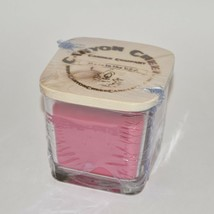 New Canyon Creek Candle Company 9oz Cube Jar Pink Sugar Cookie Handmade - $23.94