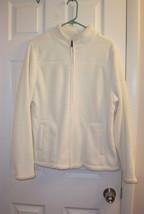 Croft and Barrow Beautiful Fleece Jacket, size XL. Faux Fur Lined. White - $27.78