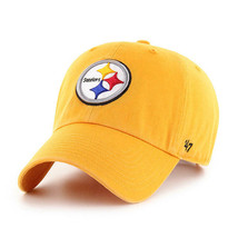PITTSBURGH STEELERS ADJUSTABLE GOLD CLEAN UP CAP - $24.74