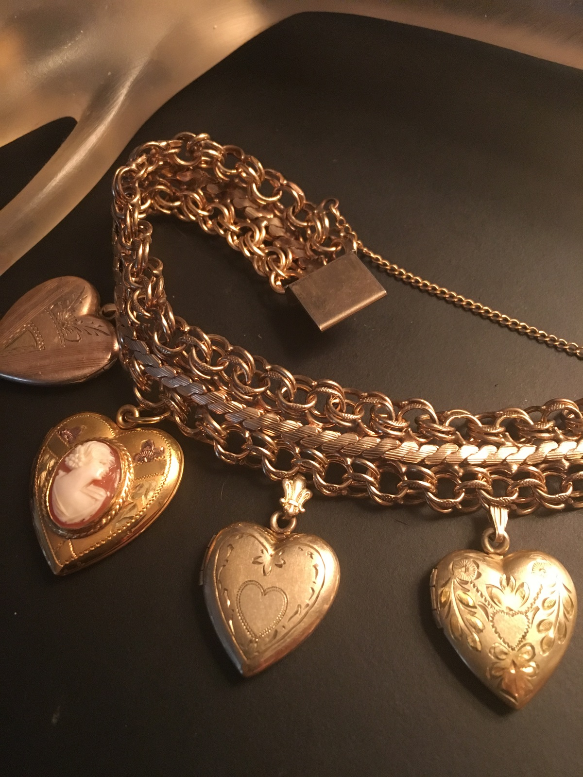 92c7eb95e0b52 12K 14K Gold Filled Wide Heart Locket Charm and 50 similar items