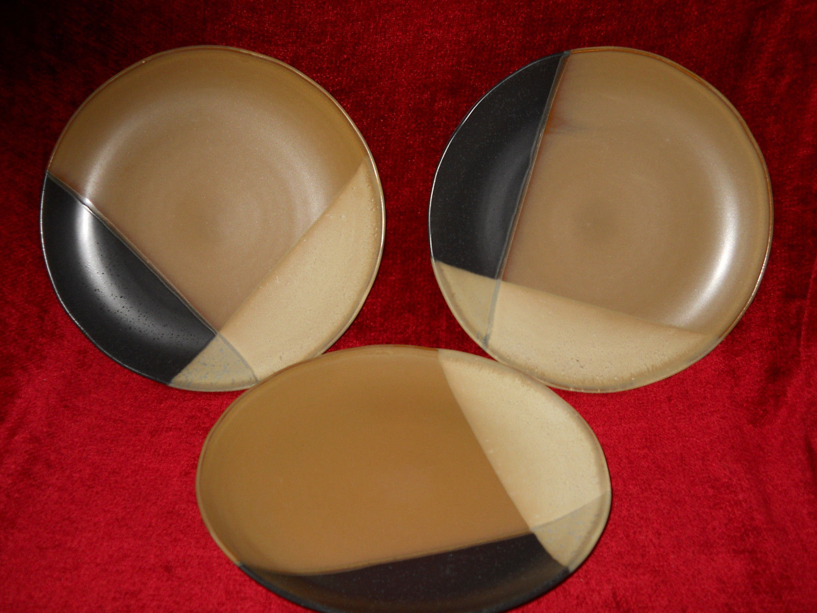 Primary image for Sango Gold Dust Black  dinner  plate set of 3