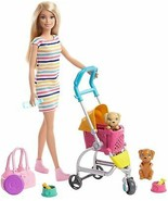 Barbie Stroll 'n Play Pups Playset with Blonde Barbie Doll (11.5-Inch), ... - $37.93