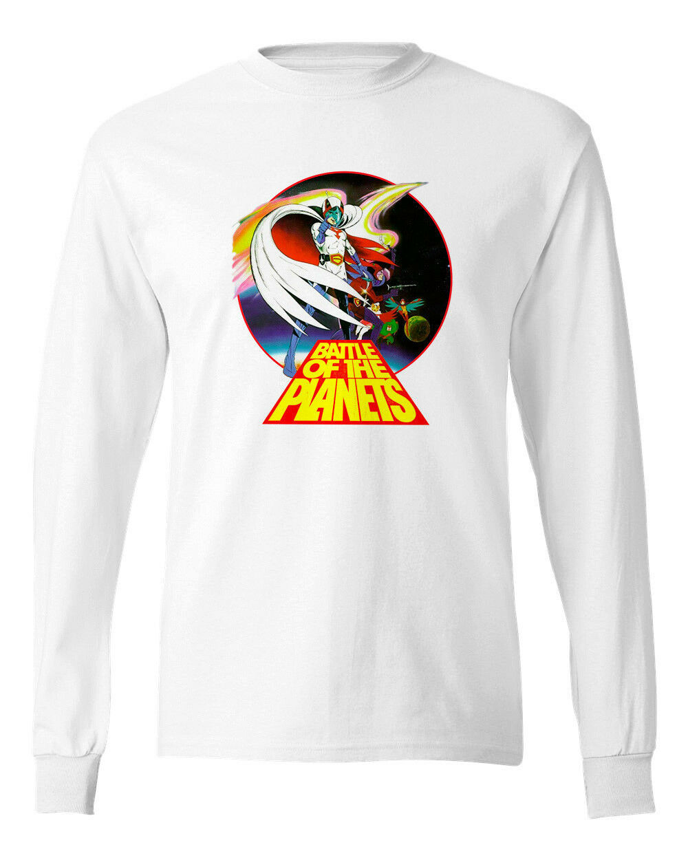 Battle of Planets T-shirt Long Sleeve 80s anime Saturday Cartoon cotton tee