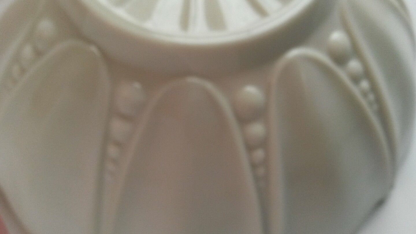Milk Glass Bowl Mint Green Cased Anchor Hocking Oyster and Pearl Scalloped Rim image 4