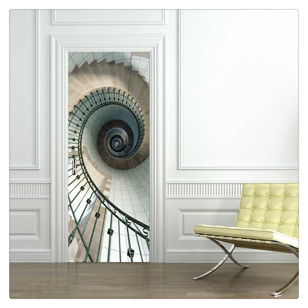 Primary image for Door Wall Sticker PVC Waterproof Bedroom Living Room Door Mural Wrap 26