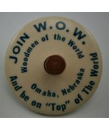 """JOIN W.O.W."" Woodmen Of The World Omaha Nebraska Spinning Top Advertising  - $19.80"