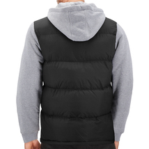Men's Hybrid Puffer Lightweight Utility Insulated Hooded Quilted Zipper Jacket image 12