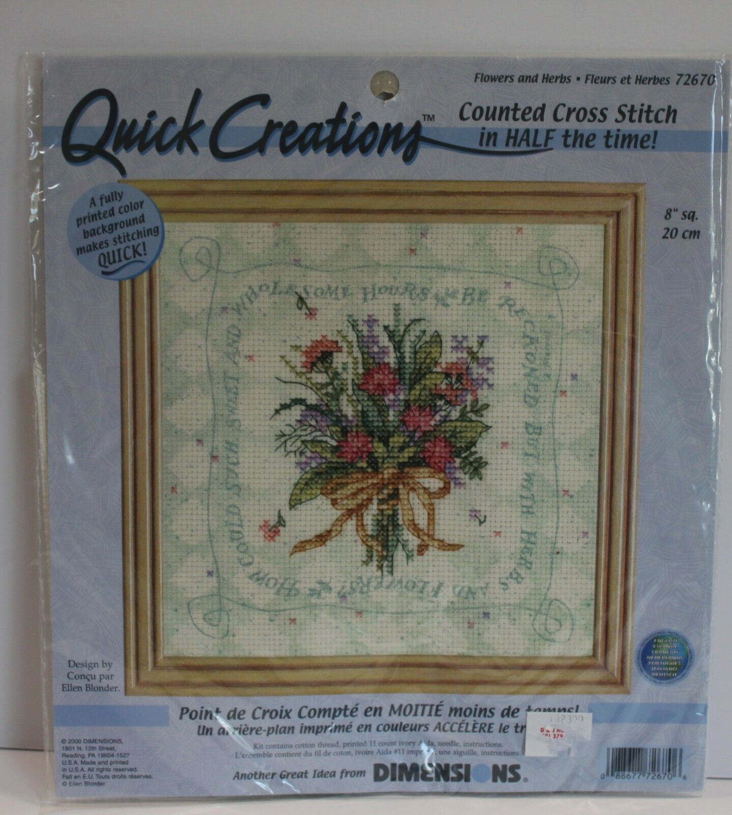 Dimensions Flowers and Herbs Bouquet Counted Cross Stitch Kit - $11.69