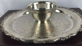 Vintage Wm A Rogers by Oneida Silverplate Chip and Dip Tray. - $18.70