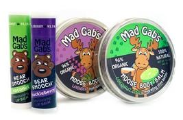 Mad Gab's Natural & Organic Moose Smooch Lip Balm and Body Balm Gift Set - $21.99