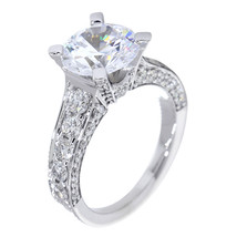 Engagement Ring Setting for a Round Diamond Center, 1.68CT Total Sides i... - $3,864.00