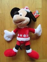 "6W/DISNEY CHRISTMAS MICKEY MOUSE/JINGLE BELLS/PLUSH/17""! - $19.75"