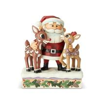 Rudolph Traditions Santa Hugging Rudolph Figurine by Jim Shore 6004146 - $54.40