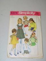 Simplicity Girl 8374 Pattern 13376 Vintage Size 6 Jumper Blouse Girls - $12.17