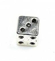 NICE Dice gamble casino game Lucky Charm Sterling  silver .925 European ... - $19.27