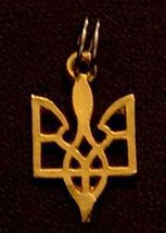 NICE St. Demetrius Sterling Silver Pendant Charm Gold Plated - $15.27