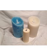 NEW Candle Impressions Flameless Battery Operated Blue/White Candle Set - $34.65