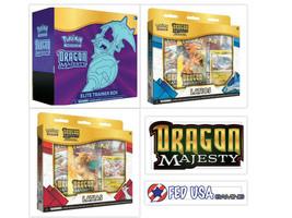 Pokemon Dragon Majesty Elite Trainer Box + Latios & Latias Pin Collectio... - $109.99
