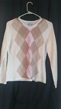 Very soft argyle women's sweater croft and barrow sz small sec1128 - $12.90