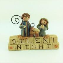 Christmas Tabletop Decor - Silent Night Clay Blocks - $14.80