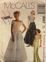 McCall's 3867 NY NY Junior Lined Tops and Skirts Size JA(3/4-5/6-7/8-7/10) - $11.27