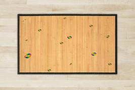 Kiss Natural Bamboo Rug Play 23.6 X 39.4 Brown Mat Teen Bedroom Gift Ide... - $48.00
