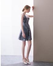 ROSE GOLD Sequin Maxi Dress Mermaid Slit Maxi Sequin Dress Plus Size Sequin Gown image 8