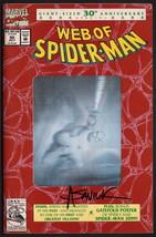 Web of Spiderman #90 Hologram 30th Anniversary Cover SIGNED Alex Saviuk ... - $19.79