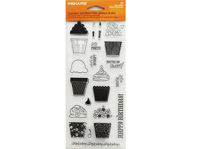 Fiskars Cupcakes and More Clear Cling Stamp Set #01-005518