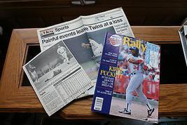 Old Vintage 1988 Minnesota Twins Rally Magazine Program Ticket Newspaper Clips - $9.99