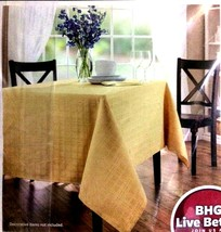 Better Homes Microfiber Tablecloth SAHARA Gold Fabric Stain Resistent 60... - €24,59 EUR