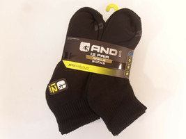 AND1 Black 12 Pair ProPlatinum Ankle Socks Arch Compression Proplatinum - $25.95