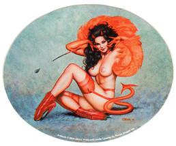 DEVIL GIRL 1950'S VINTAGE PIN UP GIRL MODEL ART CHEESECAKE VINYL DECAL S... - $3.95