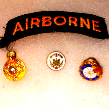 Airborne Patch and 3 Award Pins - $16.83
