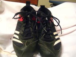 adidas Kid's Triple Star 5 Low Baseball Cleat,Black/Wht/Metsil, 4.5 Little Kids - $12.00