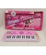 Disney Princess Royal Keyboard + Daisy Rock Grovin toy pink Guitar light... - $74.25