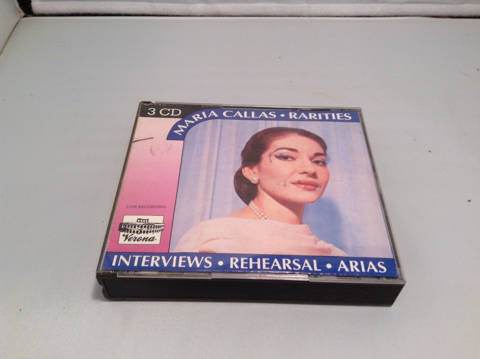 Maria Callas Rarities Interviews Rehearsals Arias Live Recording 3CD Set