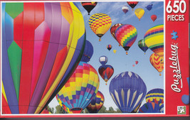 NEW Puzzlebug 650 Piece Puzzle Hot Air Balloons Lots of Color Great Pict... - $8.90