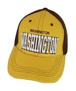 Washington Solid Front Air Mesh Back Adjustable Baseball Cap (Gold/Burgu... - $12.95
