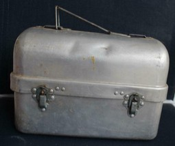 Vintage Aluminum Lunch Pail with Thermos & Tray Priscilla Ware - $80.75