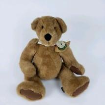 "New Plush Boyds Bear stuffed animal 16"" Mr Jones with white collar #T13 - $10.89"