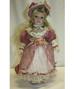 """2001 Melissa Collection 16"""" Porcelain Doll Blue Eyes Blond Hair - $19.79"""
